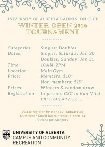 UA Winter Open 2016 Tournament(Final)